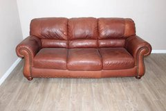 Leather Sofa in great condition! VERY comfortable FREE DELIVERY in CyFair, Texas