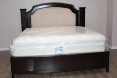 King Size Solid wood bed frame with Mattress included!! in Kingwood, Texas
