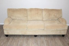Corduroy Sofa Mustard yellow excellent condition! in Kingwood, Texas