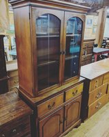 dark wood china cabinet in Camp Lejeune, North Carolina