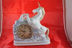 Unicorn clock, unicorn lamp, brass lamp, clocks in Phoenix, Arizona