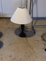 1 x dark brown metal lamp with white shade in Ramstein, Germany