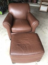 leather chair and ottoman in Kingwood, Texas