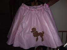 Halloween pink poodle costume in Chicago, Illinois