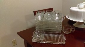 Glass trays and matching cups 16pc set in Lawton, Oklahoma