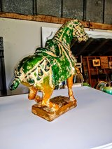 antique carved wood horse in Cherry Point, North Carolina