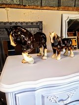 antique ceramic Clydesdales in Cherry Point, North Carolina