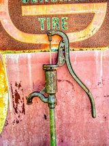 antique iron pump ( signed) in Cherry Point, North Carolina