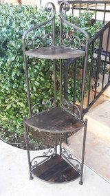 Metal & Wood Plant Stand in Lawton, Oklahoma