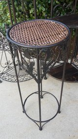 Metal & Wicker Plant Stand in Lawton, Oklahoma
