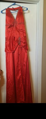 Long red dress size 12 in Plainfield, Illinois