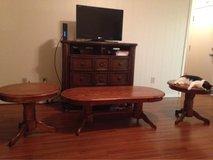 Real Wood Coffee Table and Matching Side Tables in Kingwood, Texas