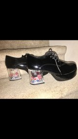 Men's 60 or 70's Party Pimp Shoes w/ Dice & Chip in Heel Black Shoes in Kingwood, Texas