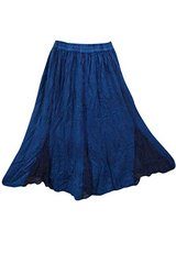 Women's Peasant Maxi Skirt Blue Stonewashed S/M in 29 Palms, California