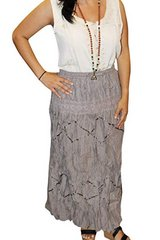 Boho Gypsy Embroidered Rayon Long Skirts M/L in 29 Palms, California