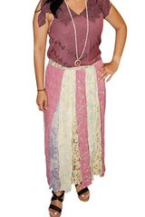Long Flared Skirts Women's Embroidered Maxi Skirt in 29 Palms, California