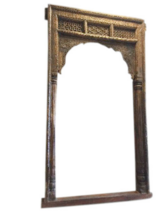 Antique Old World Architectural Design Shekhwati Teak Welcome Gate in 29 Palms, California
