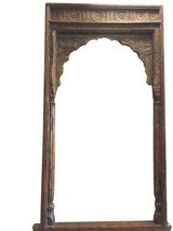 Antique Arch Columns Haveli Rustic Floral Carved Architecture 18c in 29 Palms, California
