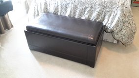 Leather trunk with flip top tray in Joliet, Illinois