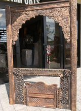 Antique Window Frame Jharokha Arch Vintage Wall Decor in 29 Palms, California