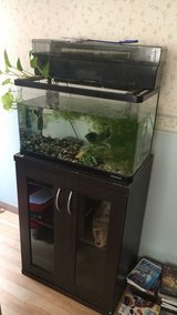 16 gallon aquarium with cabinet in Okinawa, Japan