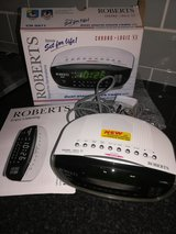 New Roberts duel alarm clock. Radio in Lakenheath, UK