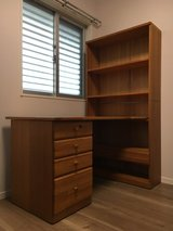 Solid Wood Desk & Office Chair in Okinawa, Japan