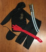 Black Ninja Costume, sz 8-10 + Swords in Fort Campbell, Kentucky