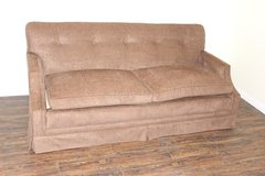 Tufted Brown sofa, VERY comfortable   FREE DELIVERY in Kingwood, Texas