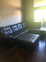 Black couch & Ottoman in Los Angeles, California