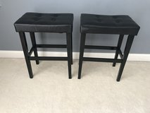 2 Counter Height Black Bar Stools! Seat height is 28inches in Bolingbrook, Illinois