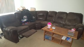 Sectional Soft Leather Sofa/Bed in Fairfield, California