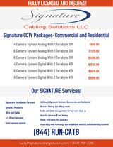 CCTV Specials at Signature Cabling Solutions, LLC! in The Woodlands, Texas