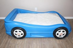 Little Tykes toddler bed- race car- blue in Spring, Texas