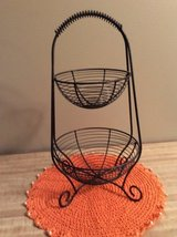 Two tiered metal basket in Naperville, Illinois