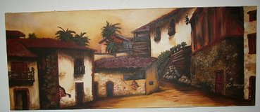 BEAUTIFUL SPANISH VILLAGE OIL  PAINTING in Bellevue, Nebraska