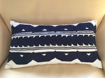 Navy and White Pillow Cover by West Elm in Bartlett, Illinois