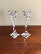 MIKASA 24% LEAD CRYSTAL DECO CANDLESTICK HOLDERS in Bolingbrook, Illinois