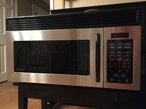 Stainless steel over-the-range microwave in Oswego, Illinois