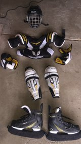 Boys Large or Men's Small Assorted Hockey Gear in New Lenox, Illinois