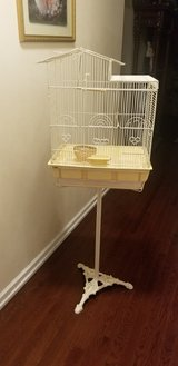 Metal Bird Cage With Cast Iron French Stand in Plainfield, Illinois