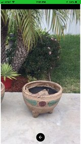 Clay flower pot in Travis AFB, California