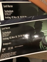 Lord Huron x2 Tickets Munich Nov 2nd in Stuttgart, GE
