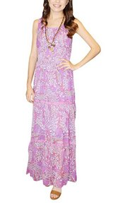 Women's Sleeveless Floral Printed Long Maxi Dress in 29 Palms, California