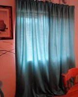 curtains they are lined and very nice greenish blue 2 long panels in Alamogordo, New Mexico