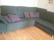 L shape Couch with pullout bed function and storage in Ramstein, Germany