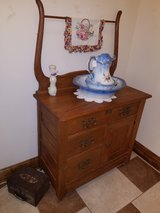 Oak Wash Stand with Towel Bar in Fort Leonard Wood, Missouri