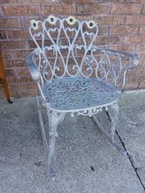 Vintage Cast Aluminum Rocking Chair in Fort Leonard Wood, Missouri