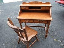 Wooden Desk and Chair in Shorewood, Illinois