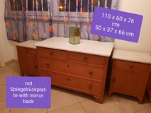 Dresser and 2 night stands marble top mirror in Stuttgart, GE